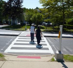 Pedestrians Crossing Refuge